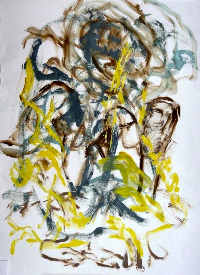 untitled gesture drawing #5, acrylic, abstraction, Canadian contemporary artist Barbra Edwards, Gulf Islands, BC