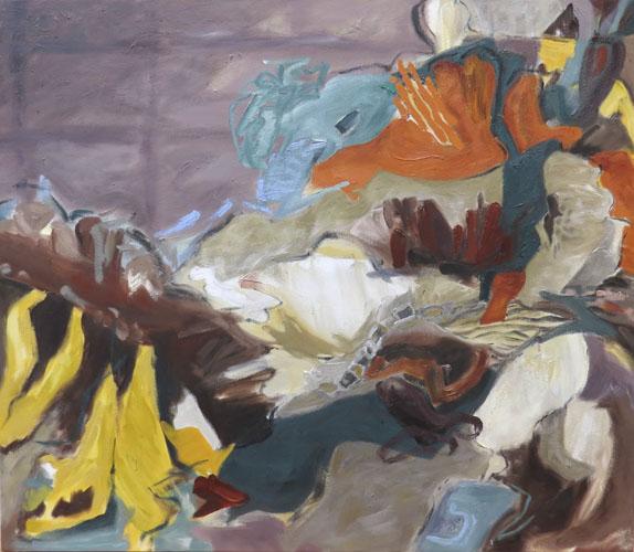 barbra edwards oil painting making steps ahead, Canadian painter, Pender Island
