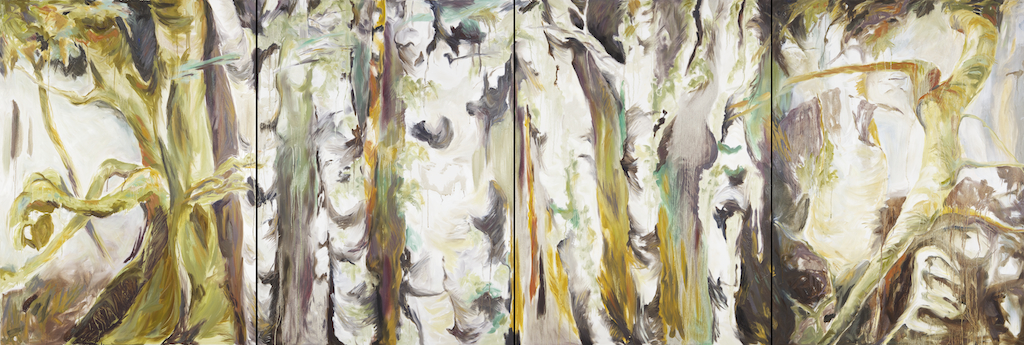 Rainforest (Tofino) by barbra edwards, Canadian abstract artist on Pender Island, BC