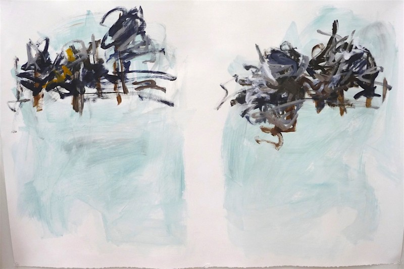 untitled gesture drawing #6, acrylic, abstraction, Canadian contemporary artist Barbra Edwards, Gulf Islands, BC