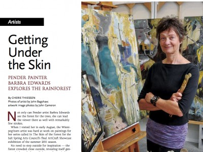 Getting Under the Skin - Article about Barbra Edwards in Aqua Magazine