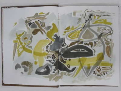 watercolour journaling by barbra edwards, Canadian abstract artist on Pender Island, BC
